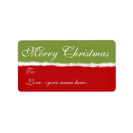 Merry Christmas Gift Tags Address Label