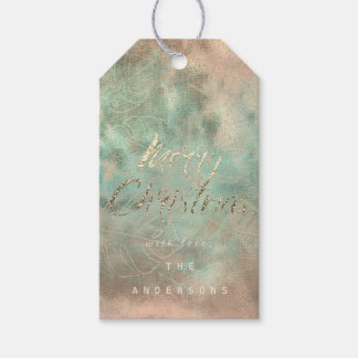 Merry Christmas Gift To Gold Monstera Mint  Burlap Gift Tags