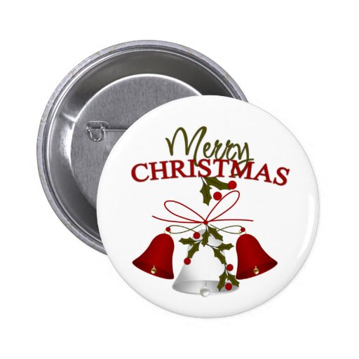 Merry Christmas Gifts Pinback Buttons