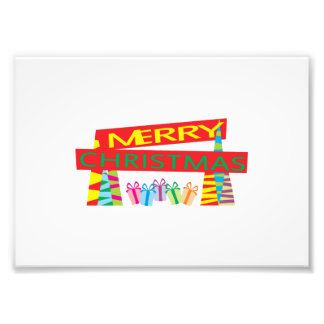 Merry Christmas Gifts Greeting Gift Wrapper Pillow Art Photo
