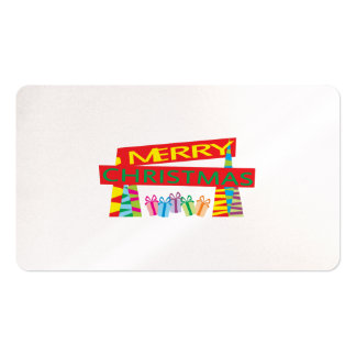 Merry Christmas Gifts Invitation Postage Label Art Business Card Templates