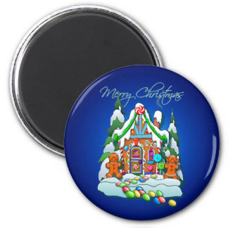 MERRY CHRISTMAS GINGERBREAD HOUSE by SHARON SHARPE Magnet