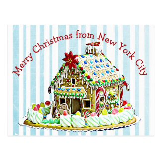 Merry Christmas Gingerbread House Postcards