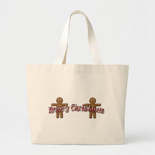 Merry Christmas - Gingerbread Man Tote Bag