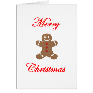 Merry Christmas Gingerbread Man Card