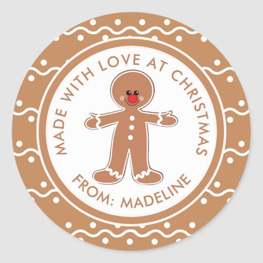 Merry Christmas | Gingerbread Man Gift Tag