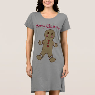 Merry Christmas Gingerbread Nightgown T Shirt