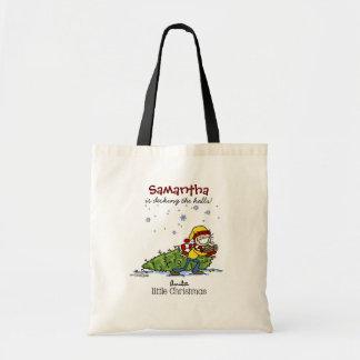 Merry Christmas Girl Budget Tote Bag