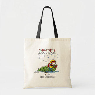 Merry Christmas Girl Canvas Bags