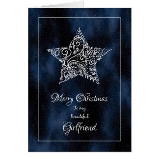 Merry Christmas Girlfriend / Christmas Star Greeting Card