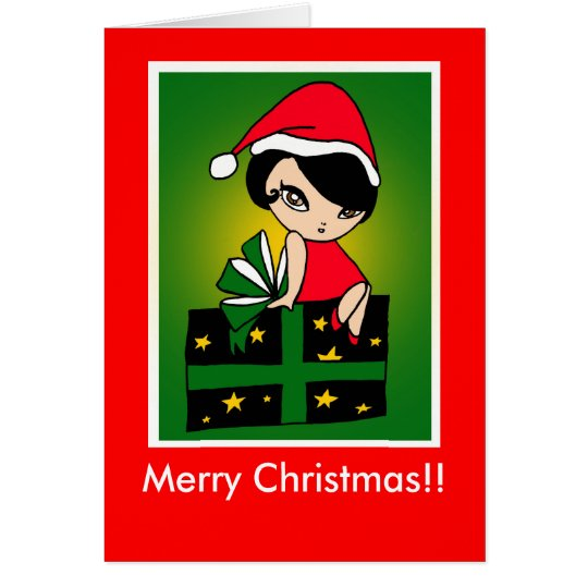 Merry Christmas!! GirlM card (C211)