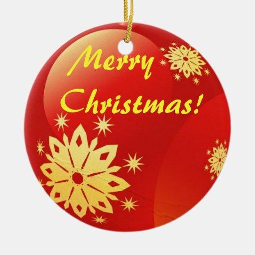 Merry Christmas Globe decorative Ornament. Round Ceramic Decoration