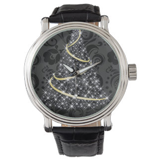 Merry Christmas Glowing Tree Wristwatches