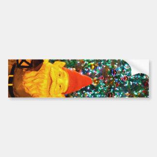 Merry Christmas Gnome Bumper Sticker