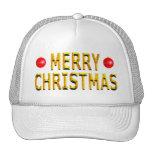 Merry Christmas Gold Cap