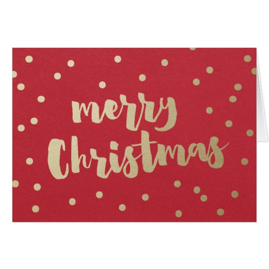 Merry Christmas gold faux foil greeting card