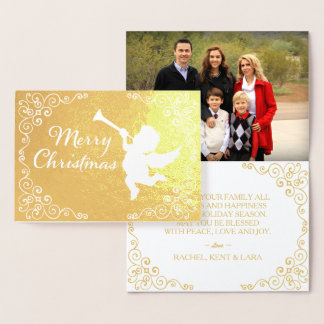 Merry Christmas Golden Personalised Foil Card