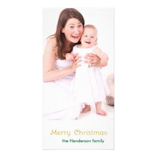 Merry Christmas Golden Sparkle Card