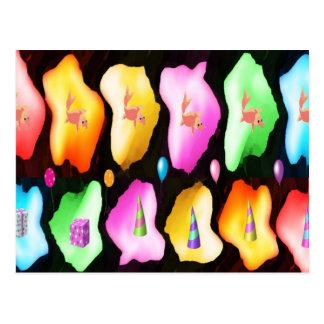 MERRY Christmas - GoldFish LightFlair RosePetal Post Card