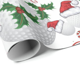 Merry Christmas Golf Ball   Santa Wrapping Paper