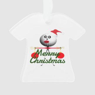 Merry Christmas Golf Cartoon Ornament