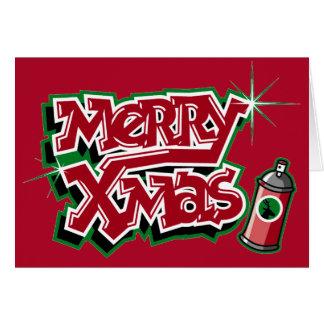 Merry Christmas graffiti card