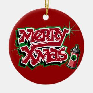 Merry Christmas Graffiti Ornament