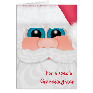 Merry Christmas Granddaughter Sweet Santa Card