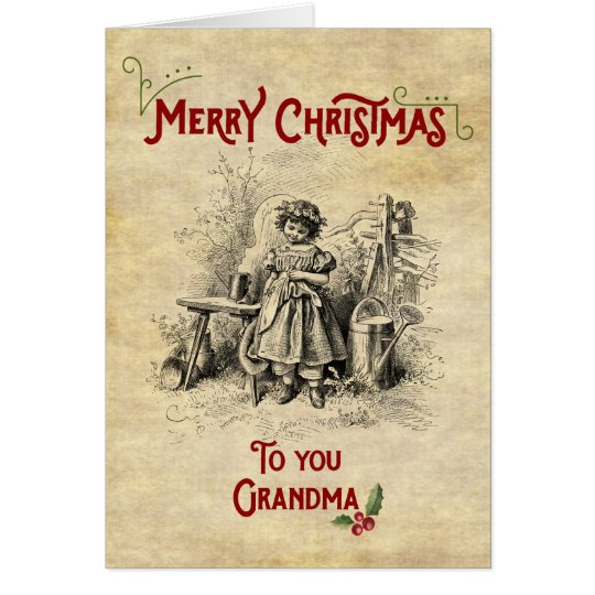 Merry Christmas Grandma Card