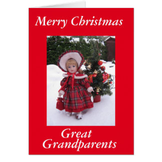 Merry christmas, Great Grandparents Card
