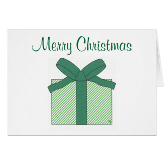 merry christmas green gift card