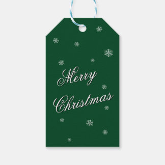 Merry Christmas Green Gift Tag
