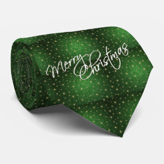 Merry Christmas Green Men's Tie