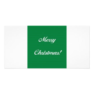 Merry_Christmas_Green Photo Card Template