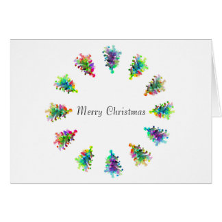 Merry Christmas greeting card. Card