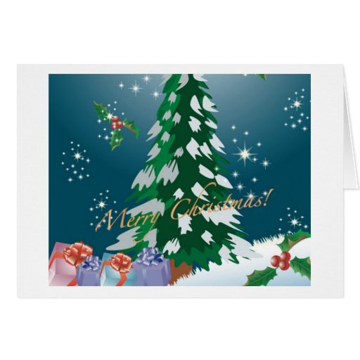 Merry Christmas Greeting Cards/Matching Postage
