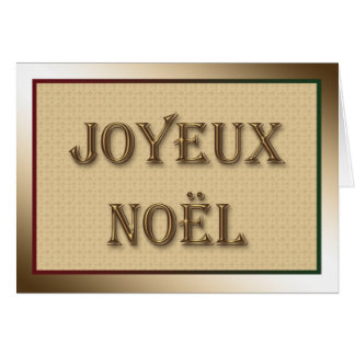 Merry Christmas Greeting in French Card