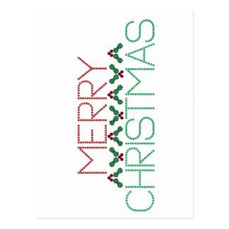 Merry Christmas Greetings Postcard