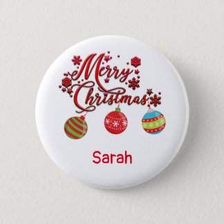 Merry Christmas Hanging Ornaments 6 Cm Round Badge