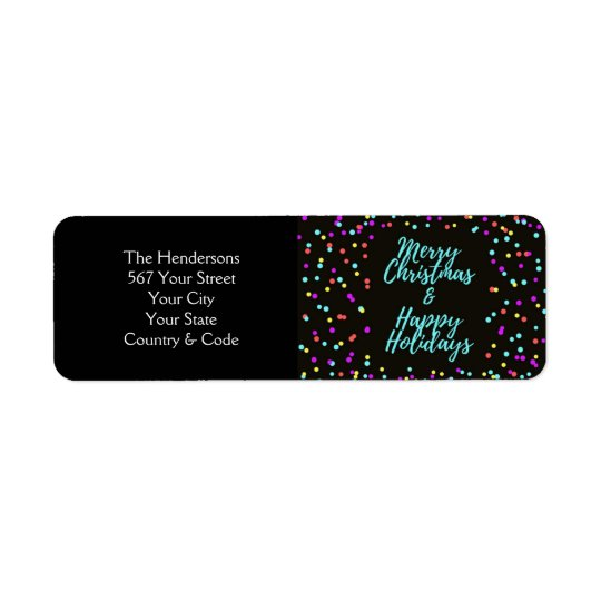 Merry Christmas & Happy Holidays - Return Address Label