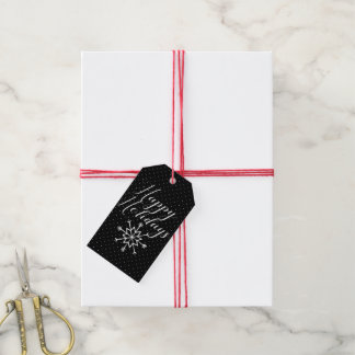 Merry Christmas | Happy Holidays Snowflakes Gift Tags
