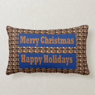 Merry Christmas  Happy Holidays Text Template GIFT Throw Cushions