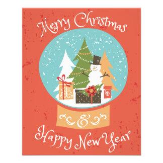 Merry Christmas Happy New Year 11.5 Cm X 14 Cm Flyer