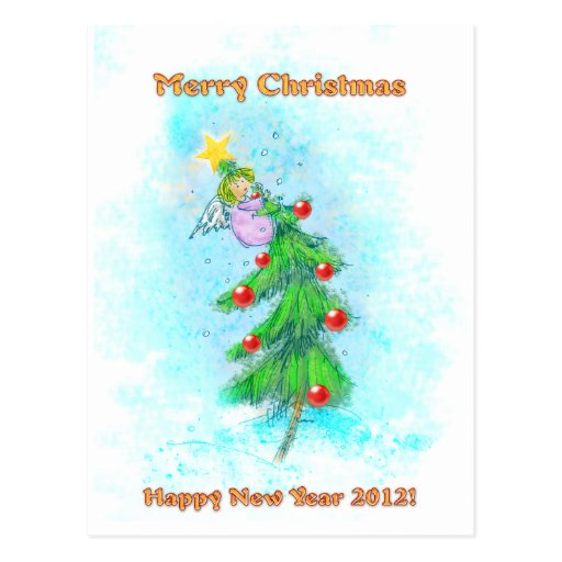 Merry Christmas! Happy New Year 2012! Post Card