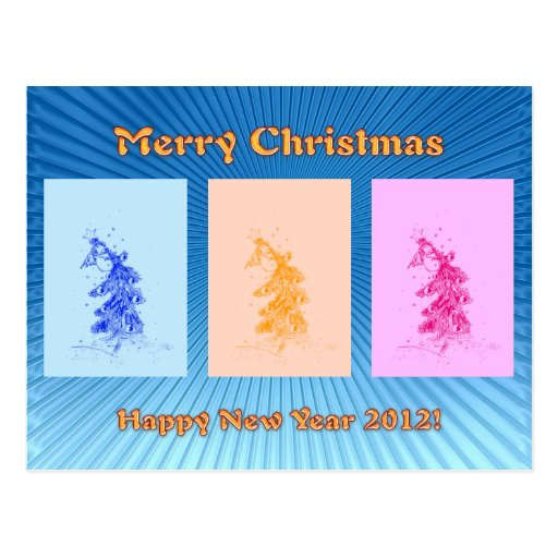 Merry Christmas! Happy New Year 2012! Postcard
