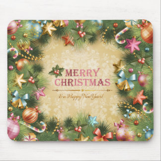 Merry Christmas Happy New Year 74 Mousepad