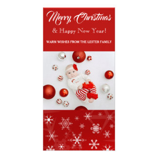 "Merry Christmas & Happy New Year 8"" x 4"" Photocard Card"