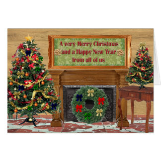 Merry Christmas, Happy New Year Greeting Cards