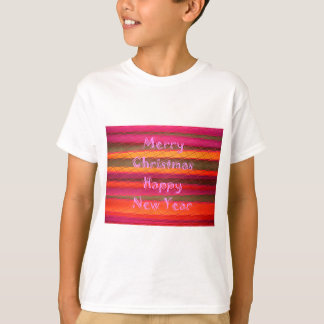 Merry Christmas Happy New Year Color Design Tee Shirts