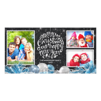 Merry Christmas & Happy New Year Greeting Photo Card